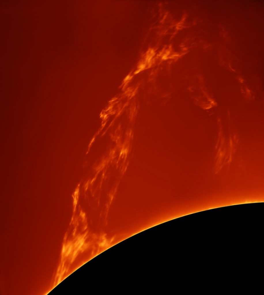 Huge Prominence Lift-off by Paolo Porcellana (Italy)