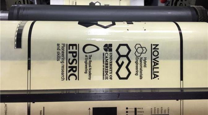 Nuovo inchiostro al grafene per la stampa roll to roll