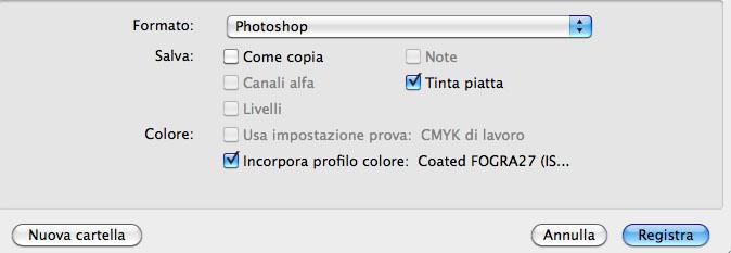 Opzione tinta piatta in photoshop | Italiandirectory