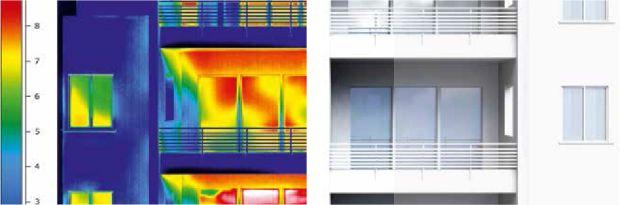 edificio residenziale con ponti termici