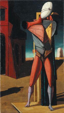 Giorgio de Chirico: Il Trovatore, autunno 1917 Olio su tela, cm 65 x 103 Collezione privata © by SIAE 2015