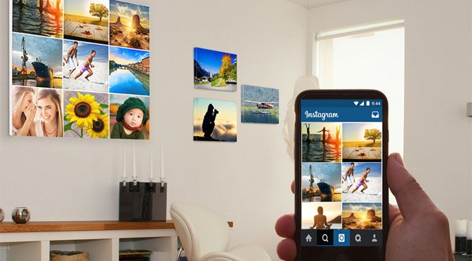 QuadriCanvas porta Instagram dall'online all'offline