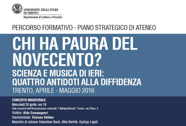 """Il programma della rassegna """"Chi ha paura del novecento?"""" è disponibile sul sito dell'Università di Trento."""