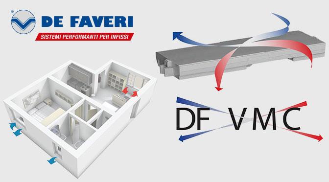 De Faveri DF VMC: sistema di ventilazione e filtrazione dell'aria
