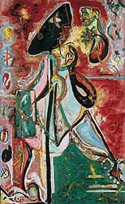 Jackson Pollock, La donna luna, 1942, Museo Peggy Guggenheim, Venezia