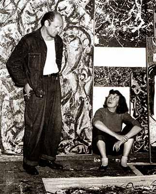 Lee Krasner e Jackson Pollock nel 1949