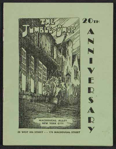 The Jumble Shop: 20th anniversary, 1942, Archives of American Art, Smithsonian Institution