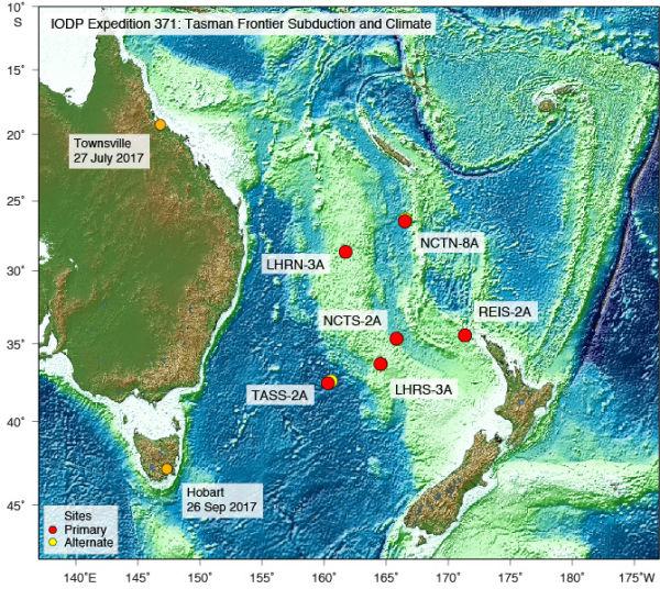 IODP Expedition 371: Tasmania