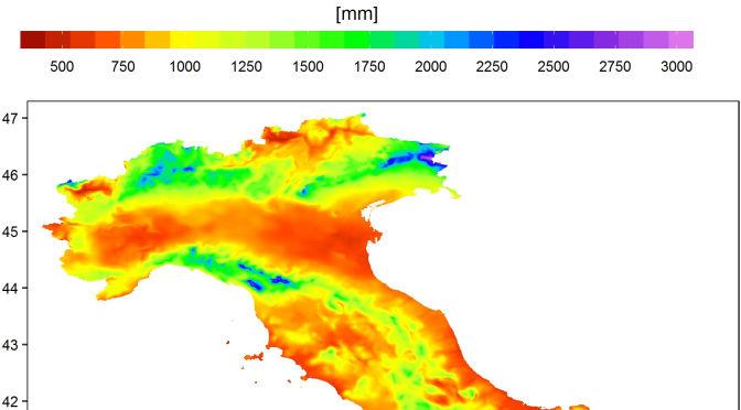 Dove cade la pioggia in Italia: un nuovo modello analizza 500.000 punti del territorio