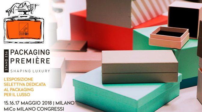Packaging Première a Milano 15-16-17 maggio 2018 – Scatolificio 2G