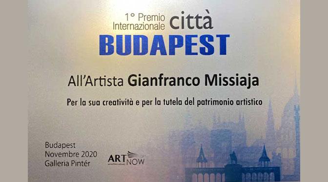 "Gianfranco Missiaja: premio ""Città Budapest"" 2020."